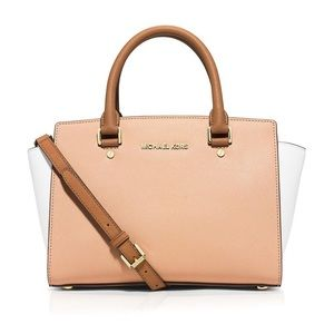 Michael Kors Tri Color Leather Satchel